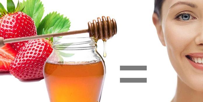 Strawberry and honey facial for skincare
