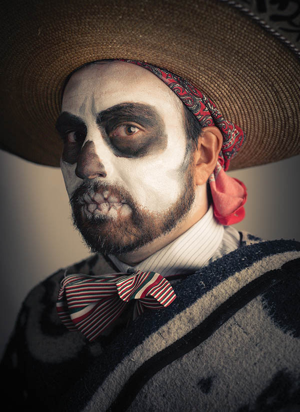 Day of the dead male makeup