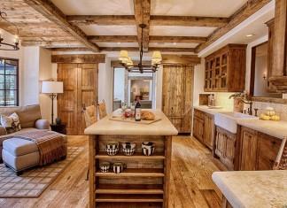 Rustic farmhouse decor at home