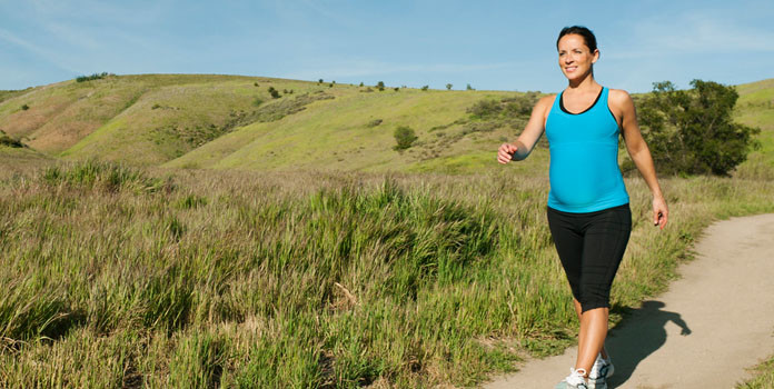 Brisk walking during pregnancy