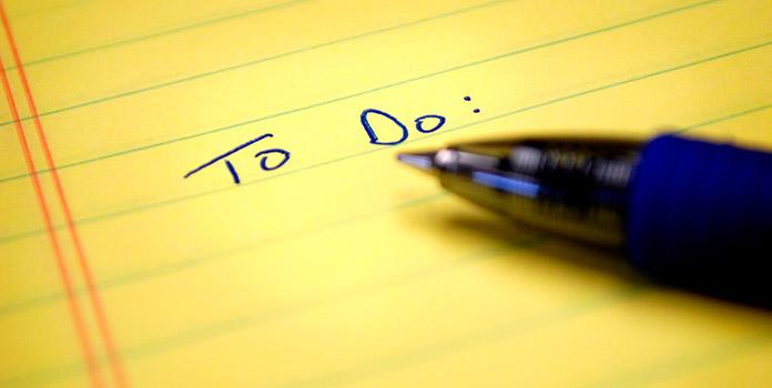 Make a to-do list