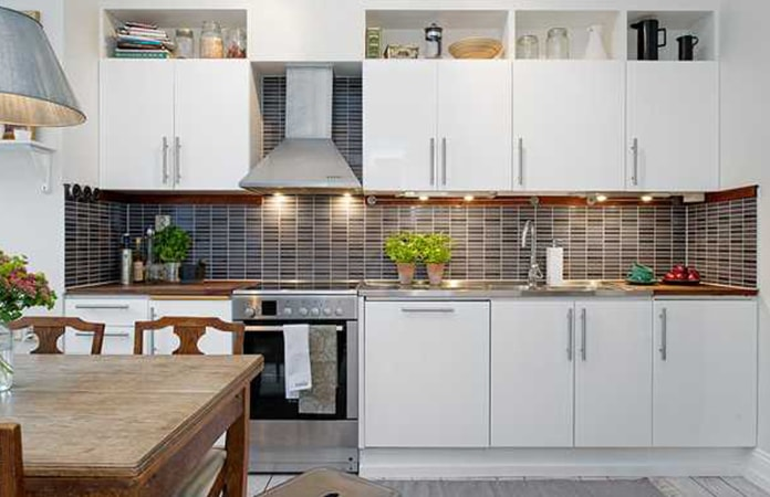 Want Contemporary Kitchen Cabinet Designs? Then Go For The Scandinavian  Theme. Bright Light And Crisp Linear Design On Cabinets Look Quite  Inspirational, ...