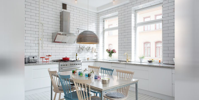 A kitchen-cum dining for urban apartment