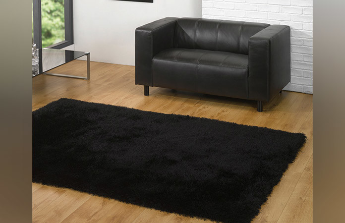 Black Polypropylene Rug