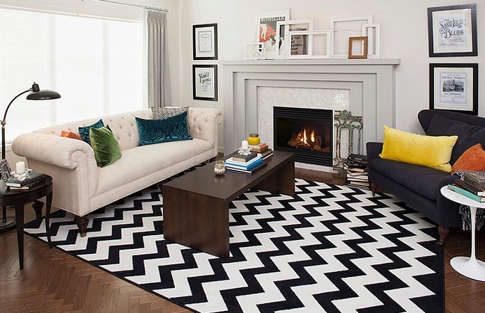 3Black U0026 White Striped Area Rugs Part 64