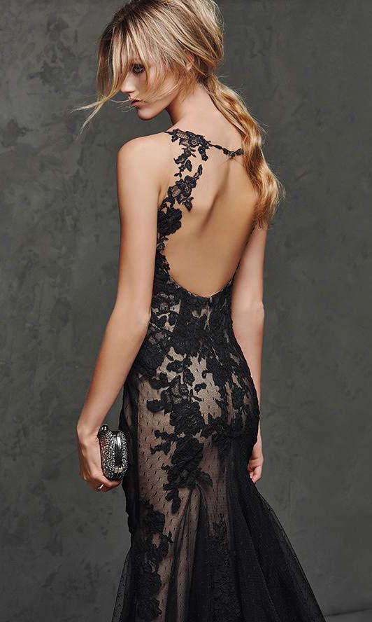 Sleeveless Long Black Prom Dress