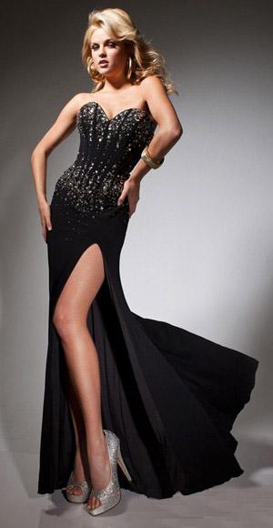 Black Prom Dresses with Jewels