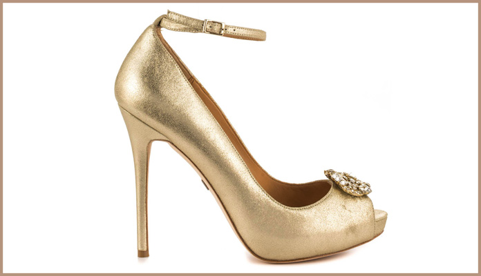 Awesome Bronze Color Bridal Shoes