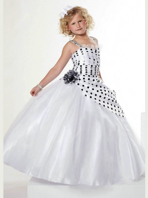 Black and White Polka Dots Party Frock