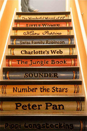 Book Stack Staircase