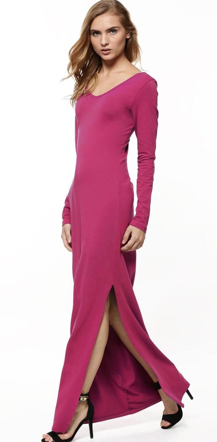 Floor Length Pink Maxi Dress