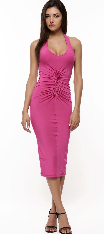 Halter Neck Body-Con Dress
