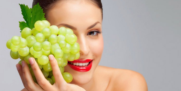Homemade Face Mask with Grapes