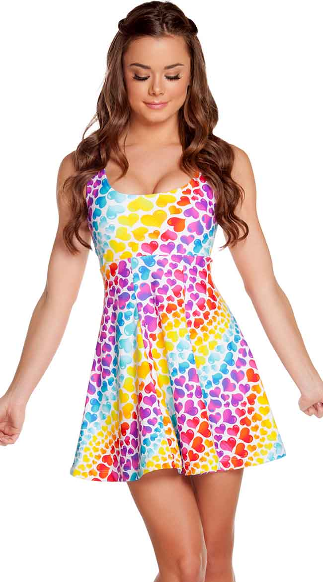 Multicolored A-Line Dress