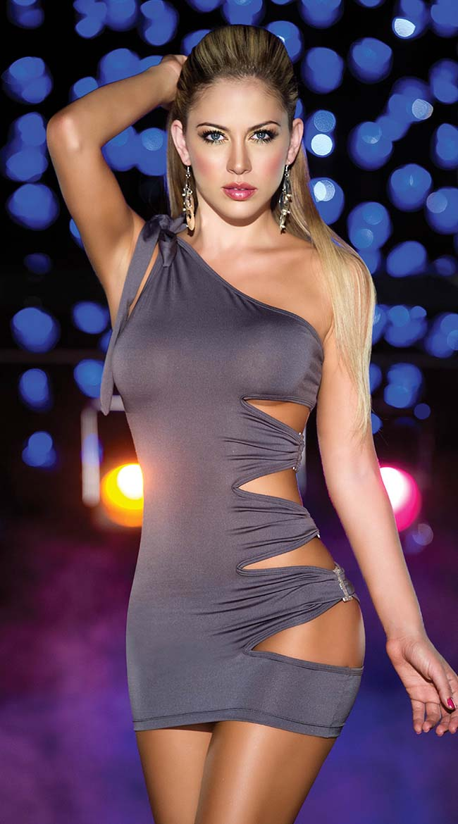 One Shoulder Hot Dress