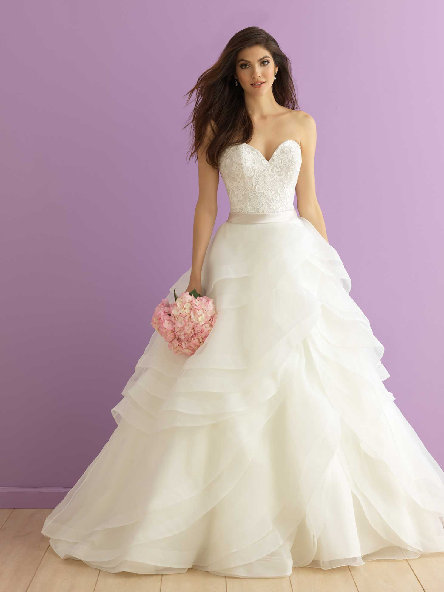 Organza Ruffled Gown