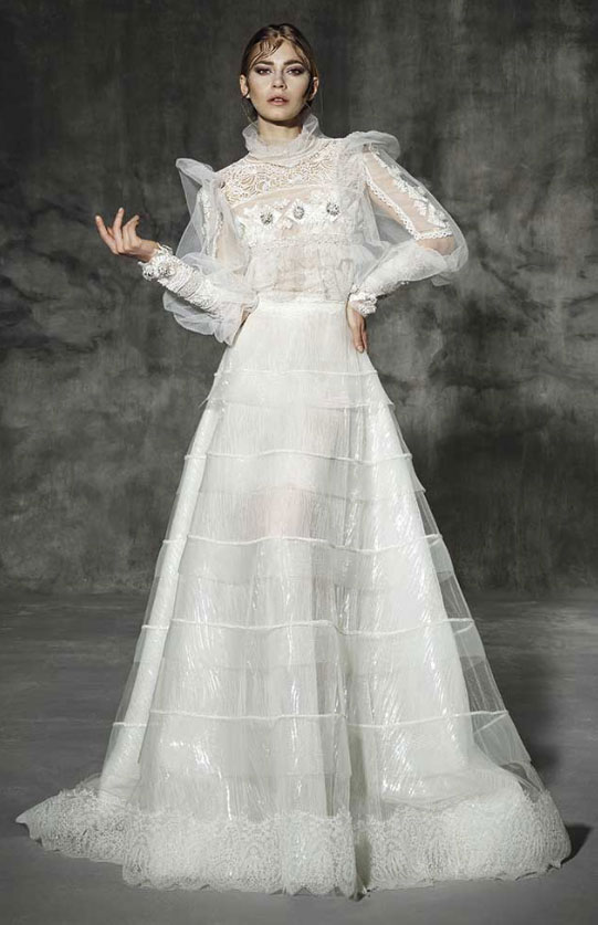Puffed-Sleeve-Victorian-Style-Wedding-Dress-for-her