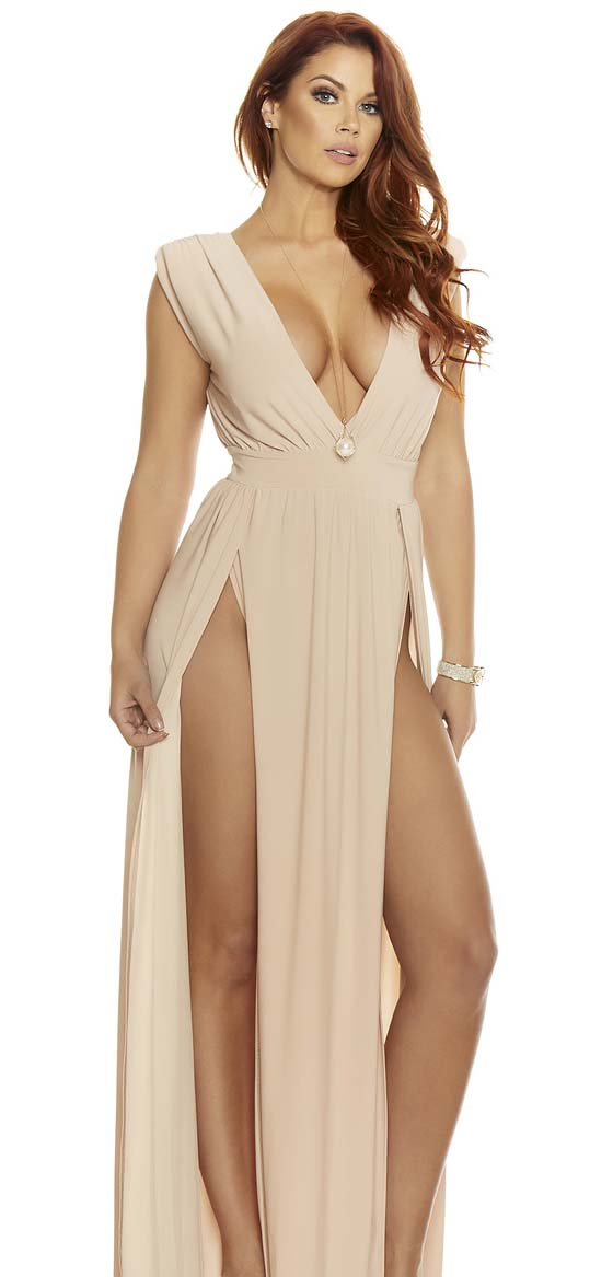 Waist-High Even Split Dress