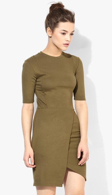 Wrap Style Jersey Dress