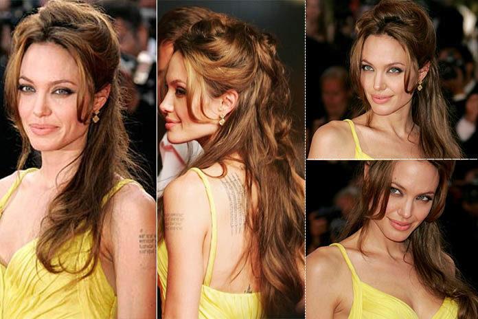 Angelina Jolie hairstyles