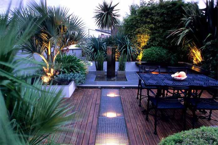 Blissful Lighted Garden