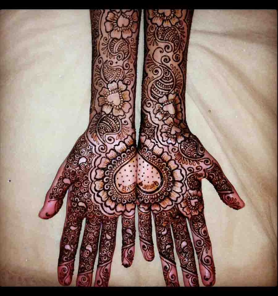 The best mehndi designs for hands livinghours - Bride And Groom Playfulness Bride And Groom Playfulness The Designs Of Arabic Mehndi