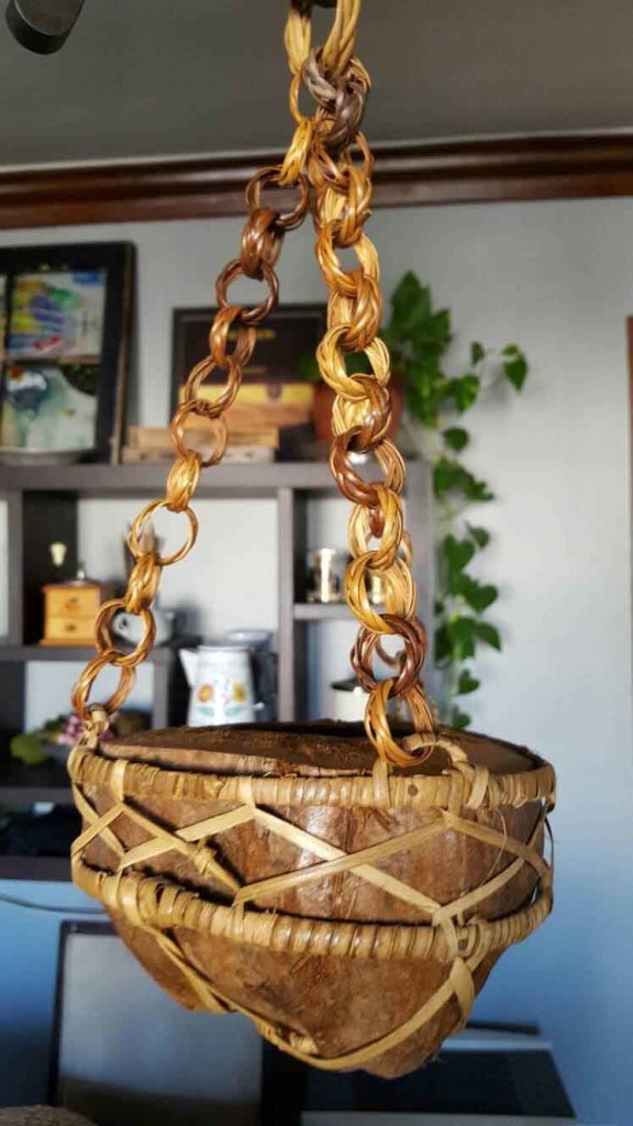 Coconut Bamboo Hanging Planter