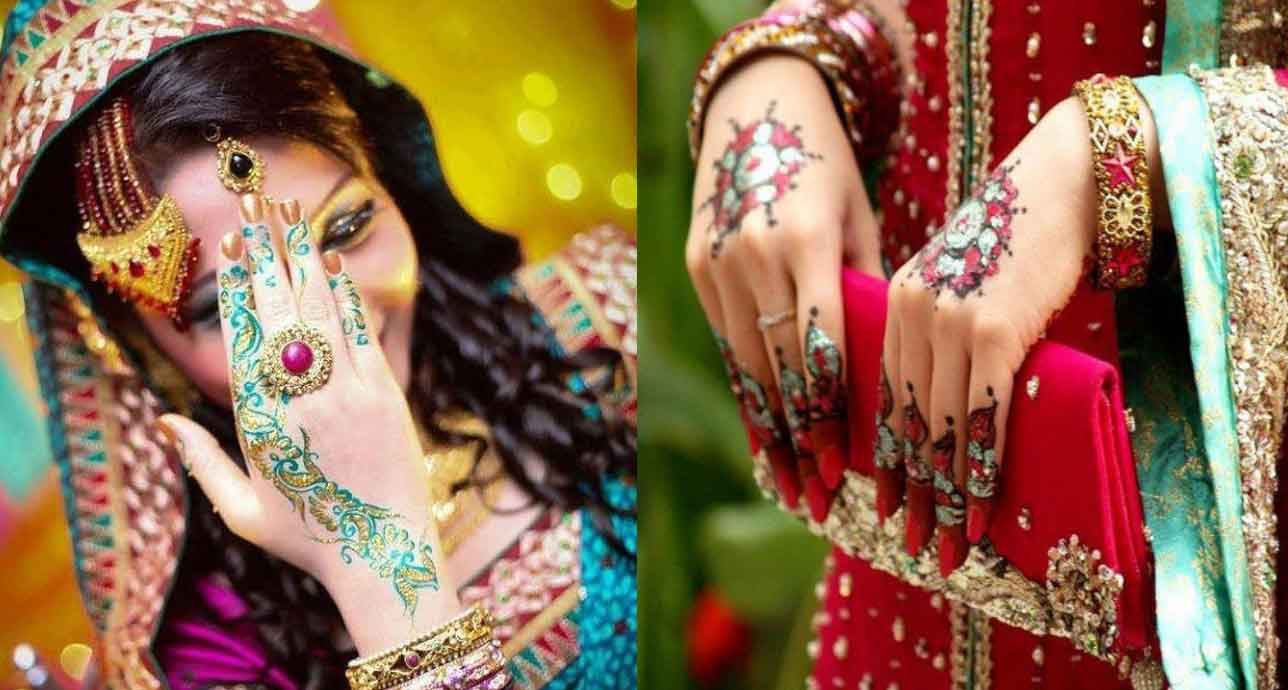 The best mehndi designs for hands livinghours - Colorful Bridal Mehndi Designs Have Become Quite Popular In The Recent Times As They Look Unique And More Attractive Than Their Regular Counterparts