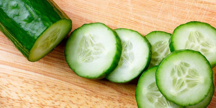 Easy Face Mask Using Cucumber