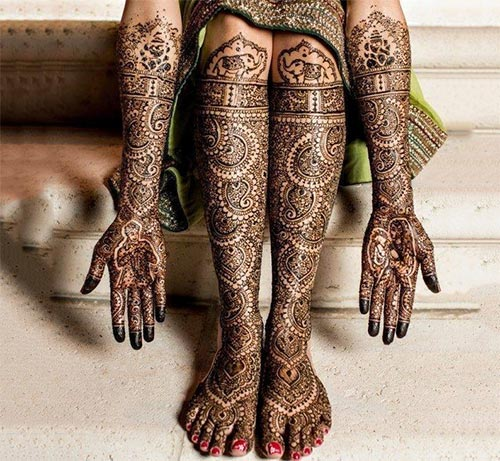 Elephant-Featuring Mehndi
