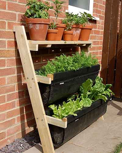 Faux Ladder Gardening