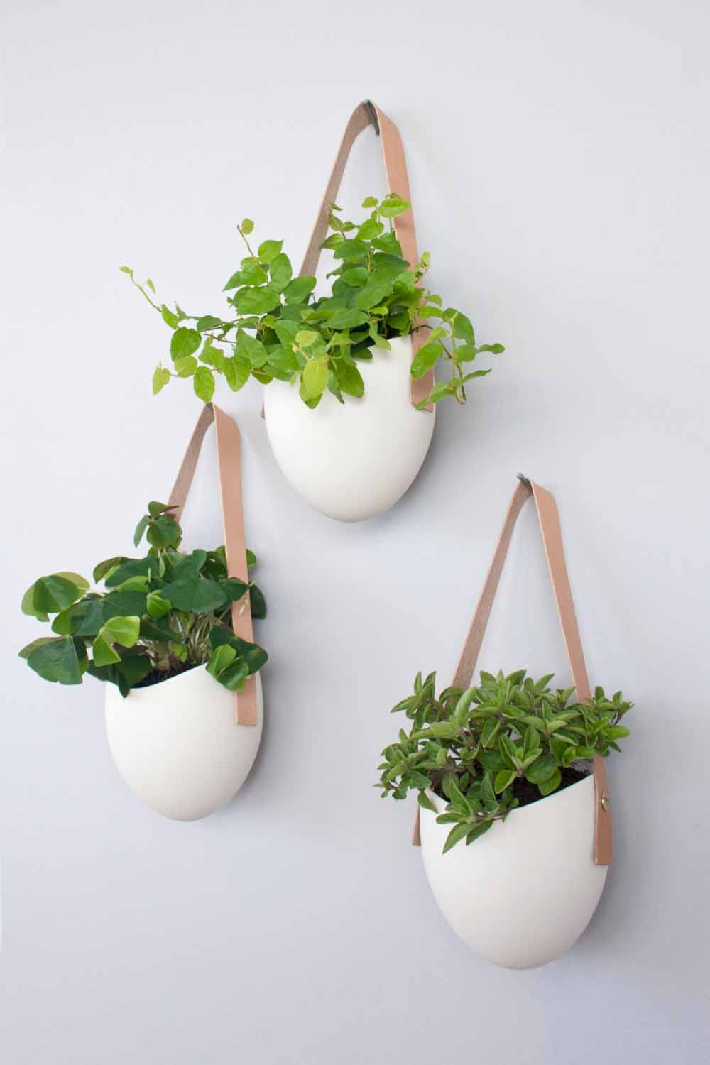 High Fired Porcelain Planters - 15 Elegant Hanging Planters For Urban Homes LivingHours
