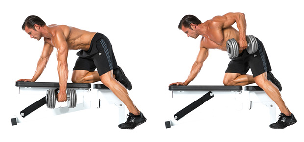 One Hand Dumbbell Row