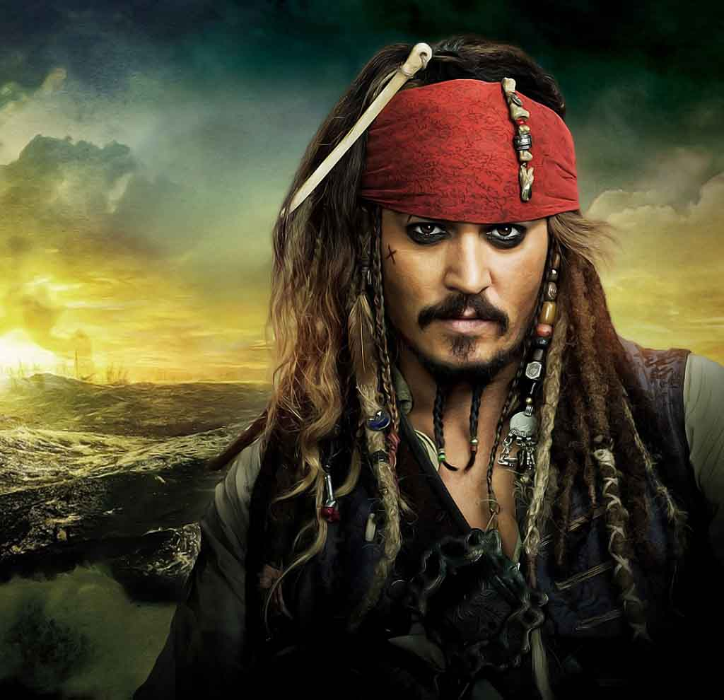 Pirates Of Caribbean Top Johnny Depp Hairstyle