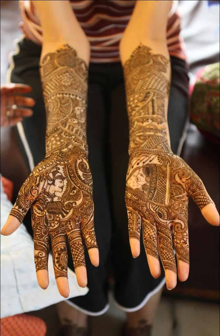 The best mehndi designs for hands livinghours - Raja Rani Design