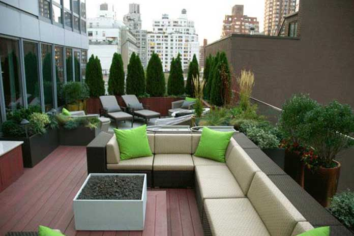 Roof Garden cum Living Area