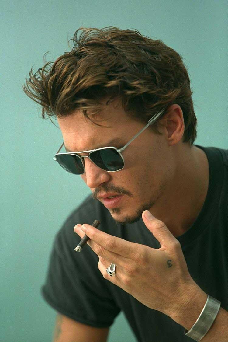 Awe Inspiring Johnny Depp Hairstyle Always Cool Amp Awesome Livinghours Short Hairstyles Gunalazisus
