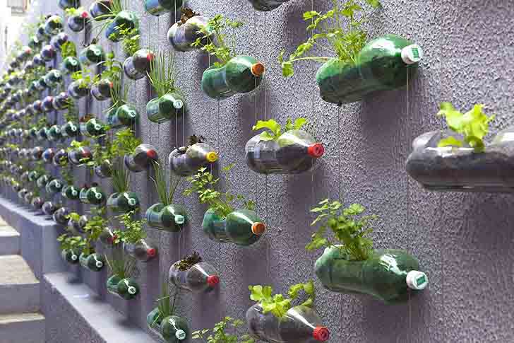 Vertical PET Herb Planters
