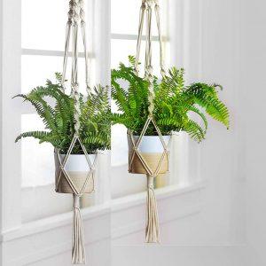 macrame flower pot holder