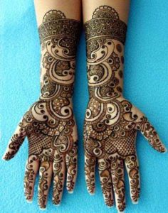 Arabic Mehndi Design with a Twist