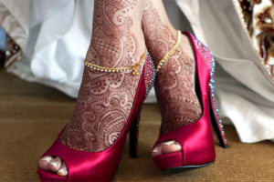 Beautiful Bridal Henna Design for Feet