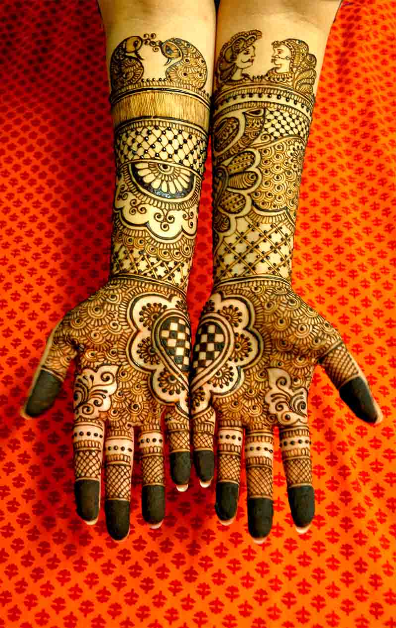 Beautiful Full Hands Henna Pattern