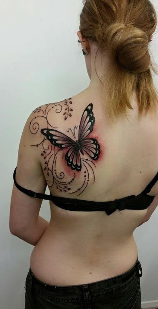 fe4eb9697 15 Butterfly Tattoos Representing Nature & Beauty | LivingHours