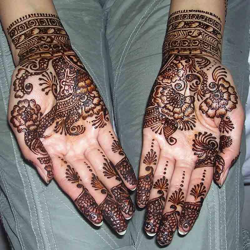 Black Henna with Glitter