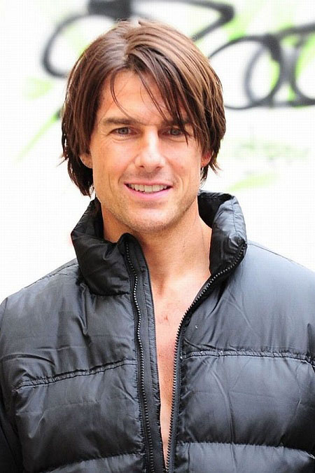 Top 10 tom cruise hairstyles to try out livinghours blonde highlights in dark hair urmus Images