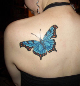 Colorful Butterfly Tatto