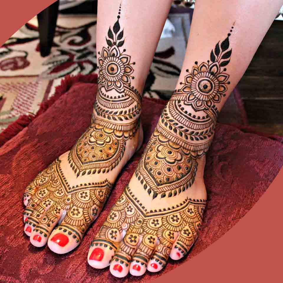 Enchanting Henna for Bridal Feet
