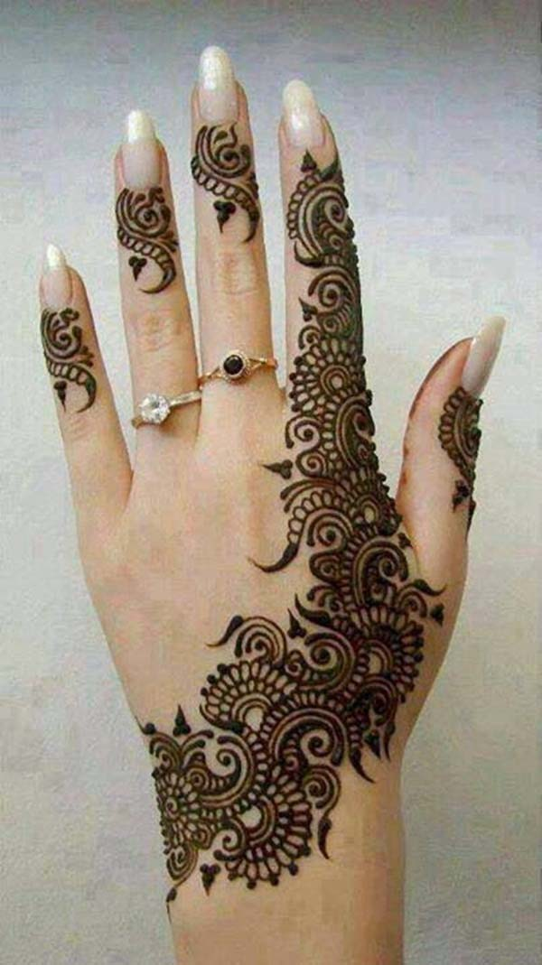 Excellent Henna Pattern for Finger & Back of Hand