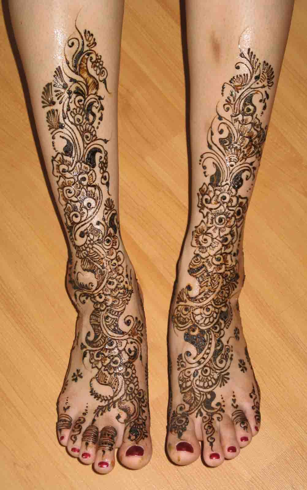 Full Legs Henna Design