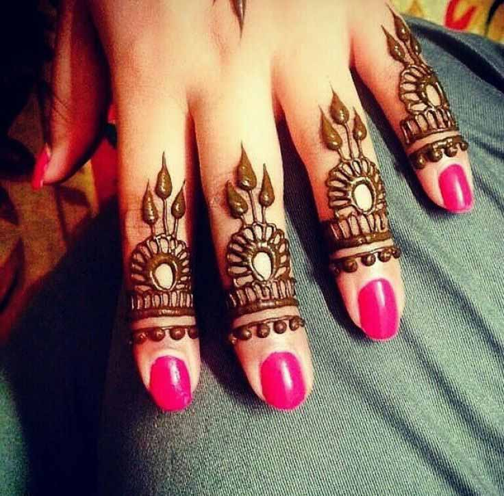 Henna Design to Cover Quarter Portion of Fingers